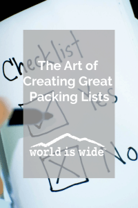 The Art of Creating Great Packing Lists
