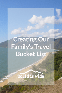 Creating our Family's Travel Bucket List