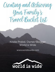 family travel bucket list guide