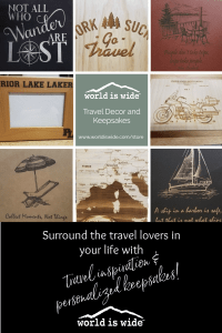World is Wide travel decor and keepsakes