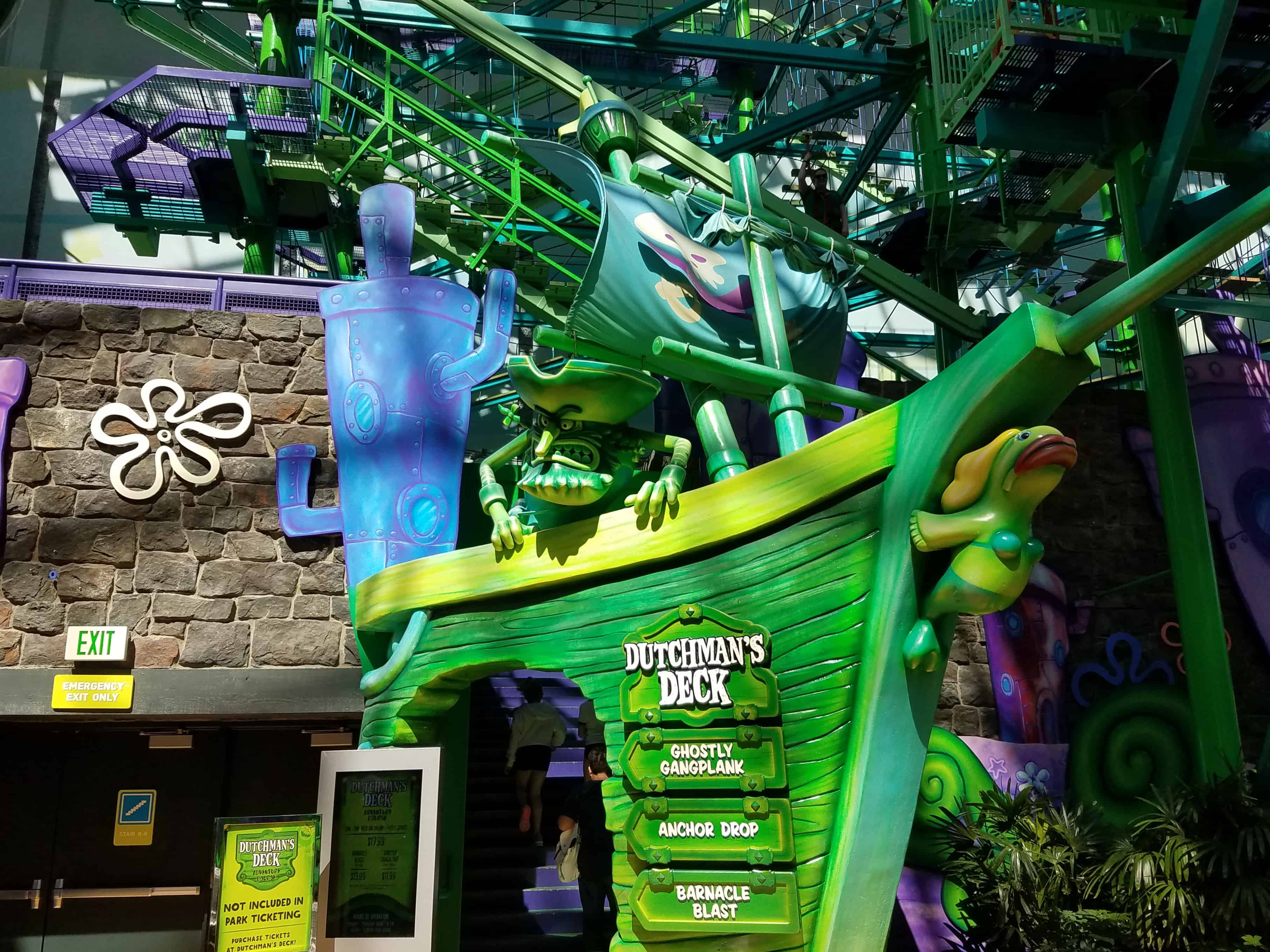 Dutchmans Deck Adventure Course Nickelodeon Universe