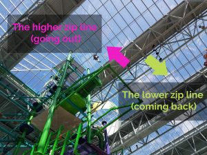nickelodeon universe dutchman's deck adventure course zip line