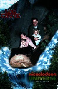Mall of America Nickelodeon Unverse Log Chute