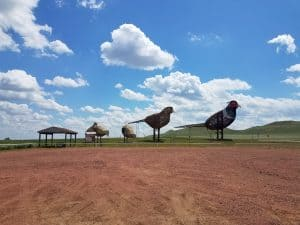 Enchanted Highway between Gladstone and Regent, North Dakota
