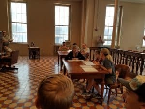 Re-enacting the Dred Scott family court case, Old Courthouse, St Louis