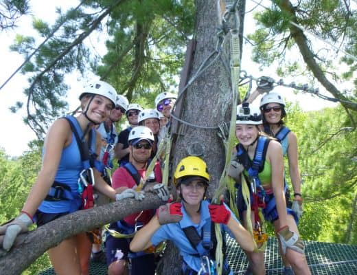 Brainerd Zip Line. Photo courtesy of Brainerd Zip Line Tour.