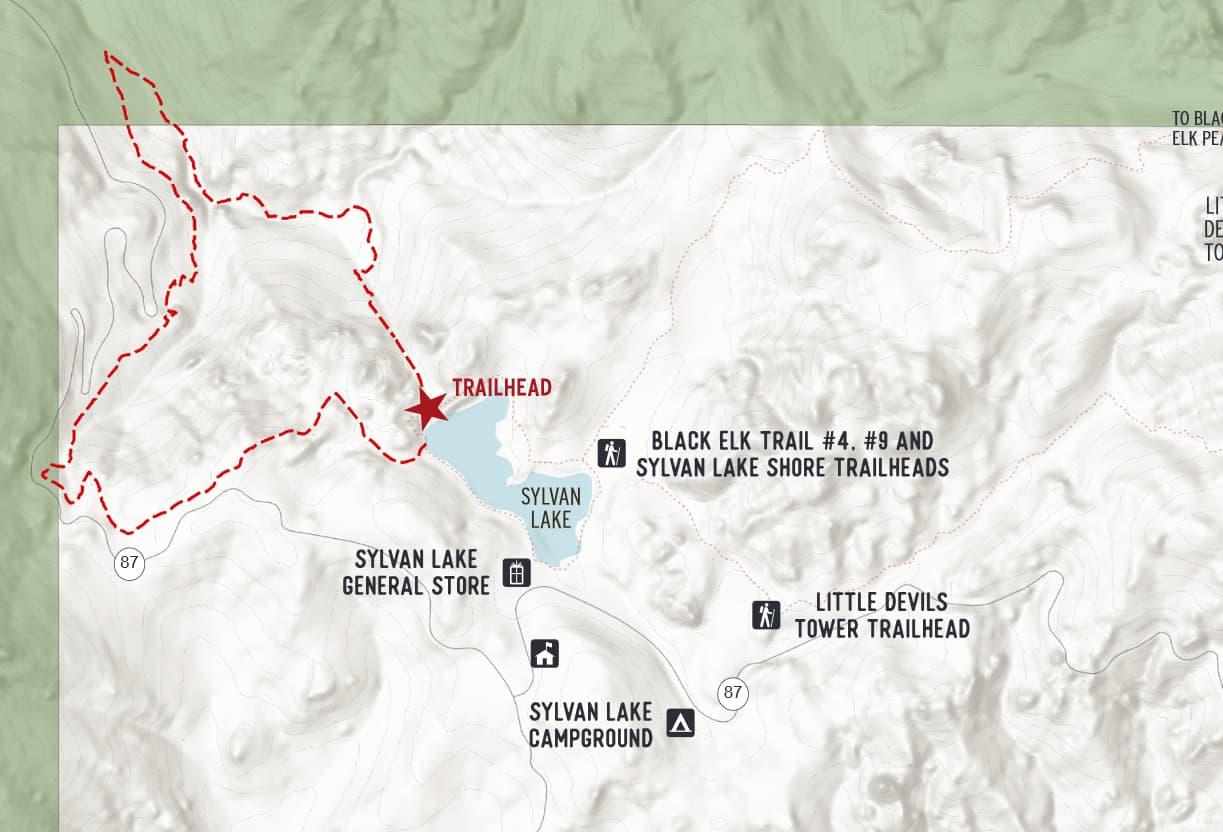 Sunday Gulch Trail map